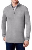 NEW MENS GEOFFREY BEENE BIG TALL HALF ZIP GREY HEATHER PULLOVER SWEATER ... - $22.49