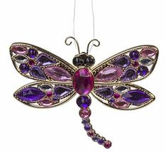 Crystal Expressions Gold Tone Dragonfly Ornament w/Acrylic Crystals (Pink) - $12.26