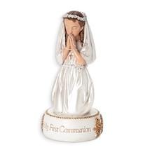 "5.5"" Kneeling Girl My First Communion Resin Figurine - $18.57"