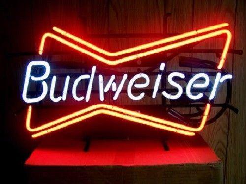 "New Bud Light Budweiser Bow Tie Logo Beer Bar Neon Sign 24""x20"""