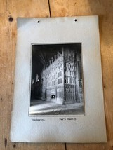 ANTIQUE/VINTAGE PHOTO OF FOX'S CHANTRY, WINCHESTER CATHEDRAL (ENGLAND) A... - $6.36