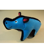 Standard Stuffed Animal Rhino Blue/Black/Red Fabric Stuffing Stuff - $8.57