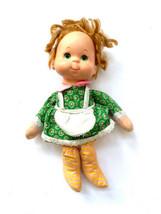 Vintage 1975 Mattel Mama Beans Baby Doll Red Hair Green Dress Apron Rubb... - $29.65