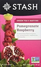Stash Tea Pomegranate Raspberry Green Tea, 18 Count Tea Bags in Foil Ind... - $30.33