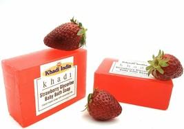 Khadi India Handmade Strawberry Glycerin Baby Bath Soap 125 gm (Pack of 2) - $13.28