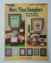 More Than Samplers Leisure Arts Counted Cross Stitch Leaflet #402 1985   - $4.25
