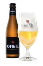 6 Pack - Omer Traditional Blond, Brewery Bockor, Belgian Craft Beer Glasses - $39.95