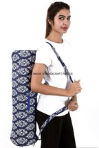 Cotton Yoga / Pilates Mat Bag with Carry Strap and Drawstring-NEW Indian... - $404,50 MXN