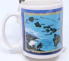 Blue Hawaiian Islands Coffee Mug Islander Group Map 10 Oz Tea Cup State ... - $24.14