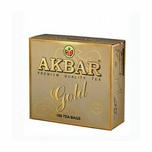 Akbar gold premium quality pure ceylon black tea 100 tea bags... - $12.42