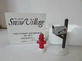 Dept 56 51322 Fire Hydrant & Mailbox Set Of 2 Snow Village Accessory L142 - $11.71