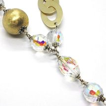 Necklace Silver 925, Yellow, Drop Agate White Big, Ovals Satin image 4