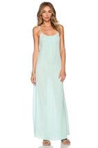 NWT NANETTE LEPORE M Maxi dress swimsuit cover up sea foam green gauzy l... - $96.93 CAD