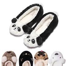 Women's Plush Winter Warm Animal Soft Cute Home Slippers Panda White 9-10 M US - $19.44