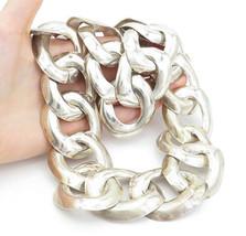 LOS BALLESTEROS MEXICO 925 Silver - Vintage Shiny Necklace & Bracelet Se... - $833.49