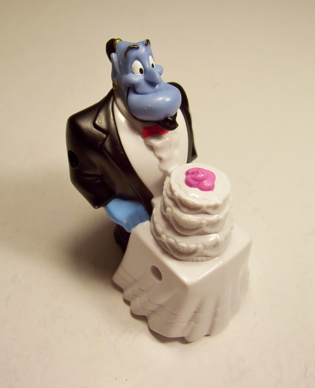 Primary image for Aladdin King  of Thieves Maitre D' Genie #8 Wedding Cake Roller McDonalds 1996