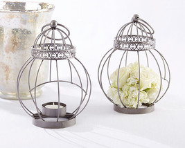 Vintage Bird Cage Candle Lantern Spring Garden Wedding Bridal Anniversar... - $81.65+