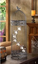 D1232 SHIPS FREE Gallery of Light Birdcage Staircase Candleholder - $36.42