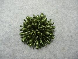 "Vintage Sea Urchin Green Plastic Resin Brooch Pin 2 1/2"" Diameter x 1 1/... - $14.99"