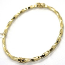 18K YELLOW GOLD BRACELET, RIGID, BANGLE, BRAID ROPE, GREEK SMOOTH, ALTERNATE image 1