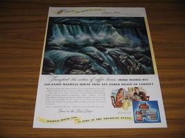 1947 Print Ad Maxwell House Coffee Niagara Falls Painted by John F. De Martelly - $15.38