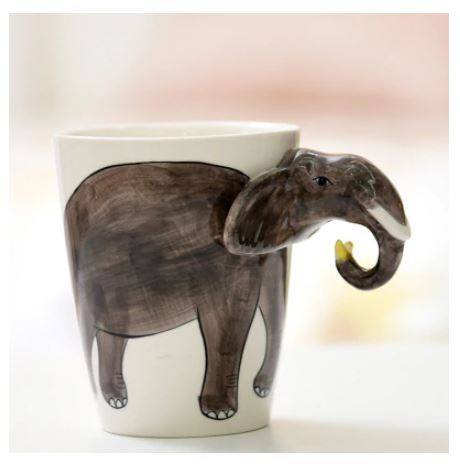 3d mug elephant