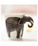 Elephant Mug 3D Animal Shape Hand Painted Gift Ceramic Coffee Milk Tea Mug - $27.75