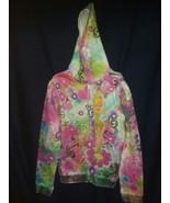 XL Girls Disney Fairies Hooded Sweatshirt Tinker Bell Size 14 16 Used Good - $18.99