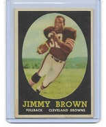 1958 TOPPS JIM BROWN ROOKIE REPRINT BROWNS #62 NOVELTY - $2.96