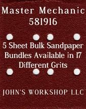Master Mechanic 581916 - 1/4 Sheet - 17 Grits - No-Slip - 5 Sandpaper Bulk Bdls - $7.14