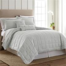 American Heritage Textiles Y45047 110 x 96 in. Seafoam 3 Piece Linen Qui... - $99.20