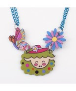 sheep necklace pendant acrylic pattern 2016 news accessories spring summ... - $13.92