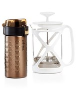 Primula Coffee Brew & Go Set  12oz Thermal Tumbler and 6 Cup Coffee Press, Br... - $63.11