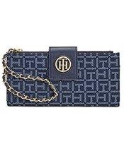 Tommy Hilfiger Monogram Jacquard Wristlet Wallet Chain Strap - $56.84