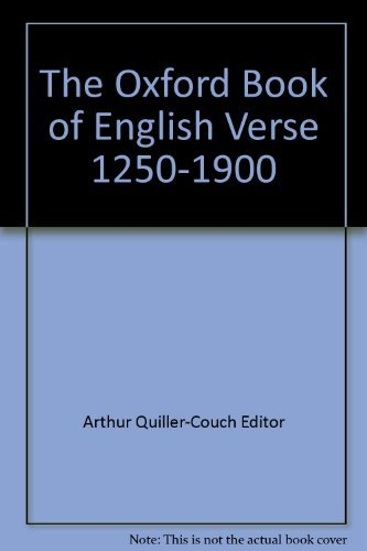 Primary image for The Oxford Book of English Verse: 1250 - 1900 [Leather Bound] Arthur Quiller-Cou