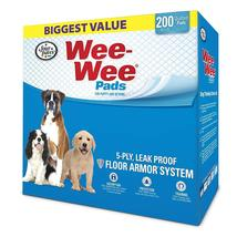 """Four Paws Wee-Wee Pads 200 pack White 22"""" x 23"""" x 0.1"""" - $55.99"""