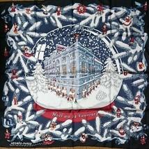 Hermes Scarf Stole NOEL AU 24 FAUBOURG X'mas Christmas Silk Navy Auth Ra... - $1,075.98