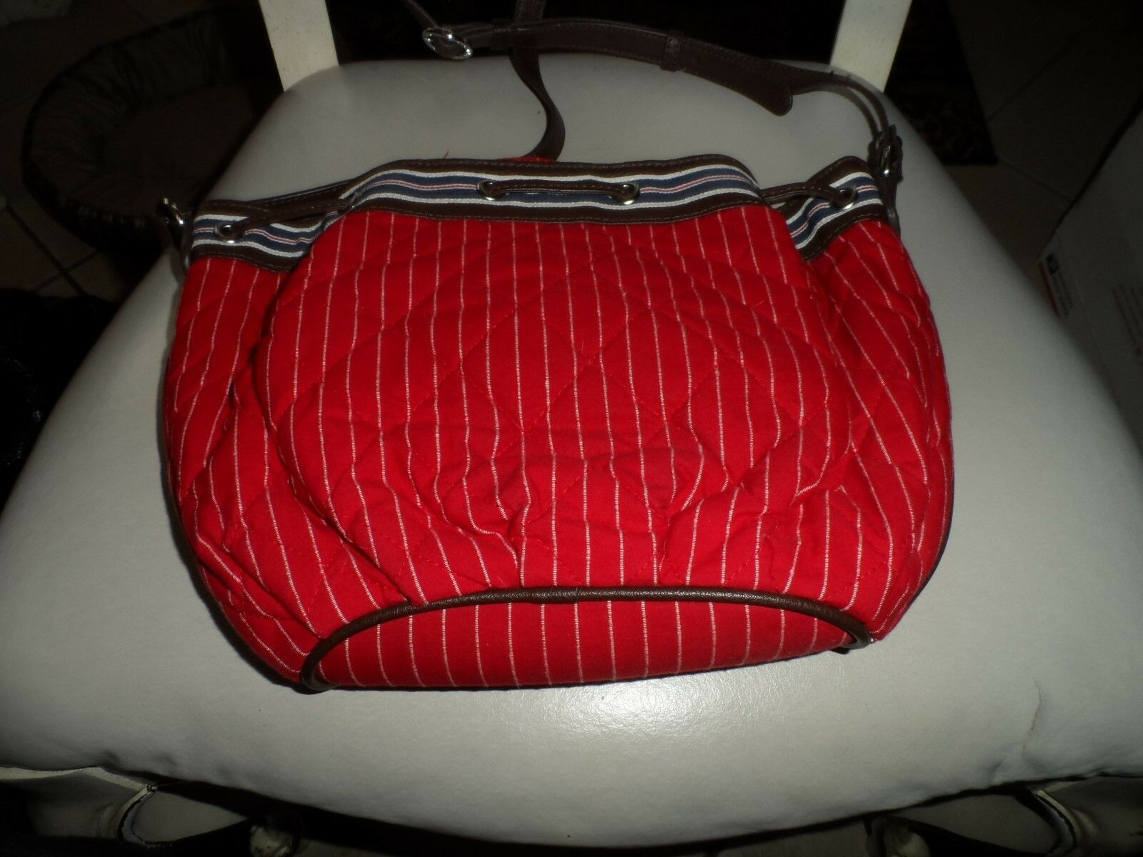 Vera Bradley Hobo shoulder bag and wallet in Red and White Seaport Stripe
