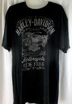 Harley Davidson Mens black T-Shirt Size XL Lathrop California Eagles Nes... - $13.85