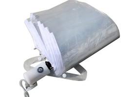 WerFamily Clear Transparent Folding Auto Open Auto Close Umbrella Rainy - $35.84