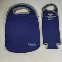 Built NY BYO Insulated Neoprene Beverage Bag Containers Blue Wine Beer W... - €21,45 EUR