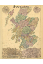 Map of Scotland by GW Bacon; Antique Map - $26.72+