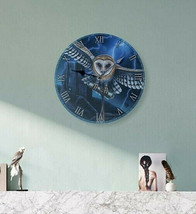 Decorative Fantasy Heart of the Storm Owl Wall Clock Home Office Bedroom... - $19.15