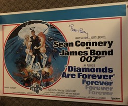 "SEAN CONNERY autographed SIGNED James Bond MOVIE POSTER  ""diamonds"" - $599.99"
