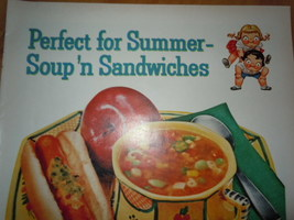 Campbell's Soup Perfect for Summer Soup'n Sandwiches Print Magazine Ad 1960 image 2