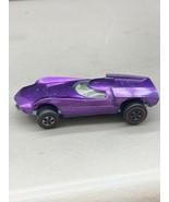 Redlines Mattel 1968 Hot Wheels Turbo Fire Purple White Interior Vintage... - $39.99