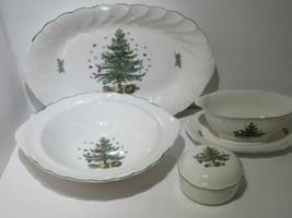 Lot of 4 Nikko Holiday Holidays Platter and Bowl Set - $47.50