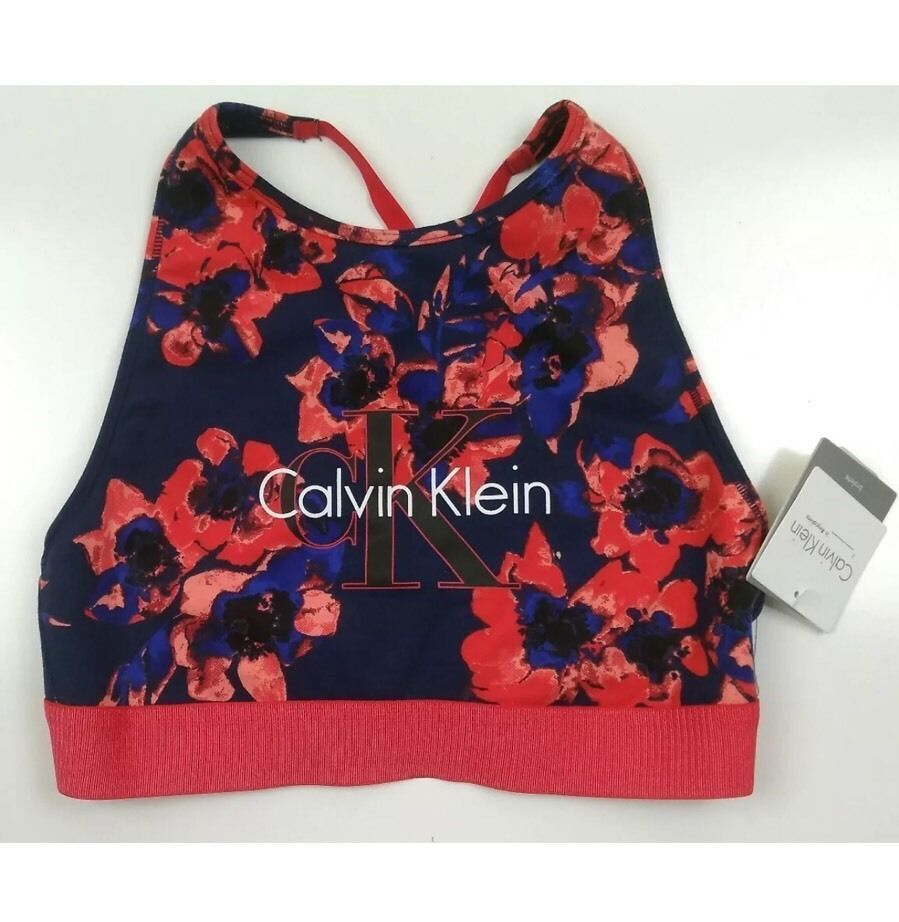 e0a21c7febf S l1600. S l1600. Previous. Calvin Klein Blue Red Logo Cotton Unlined Bralette  Size Small. Calvin ...