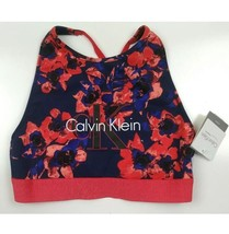 Calvin Klein Blue/Red Logo Cotton Unlined Bralette Size Small - $20.25