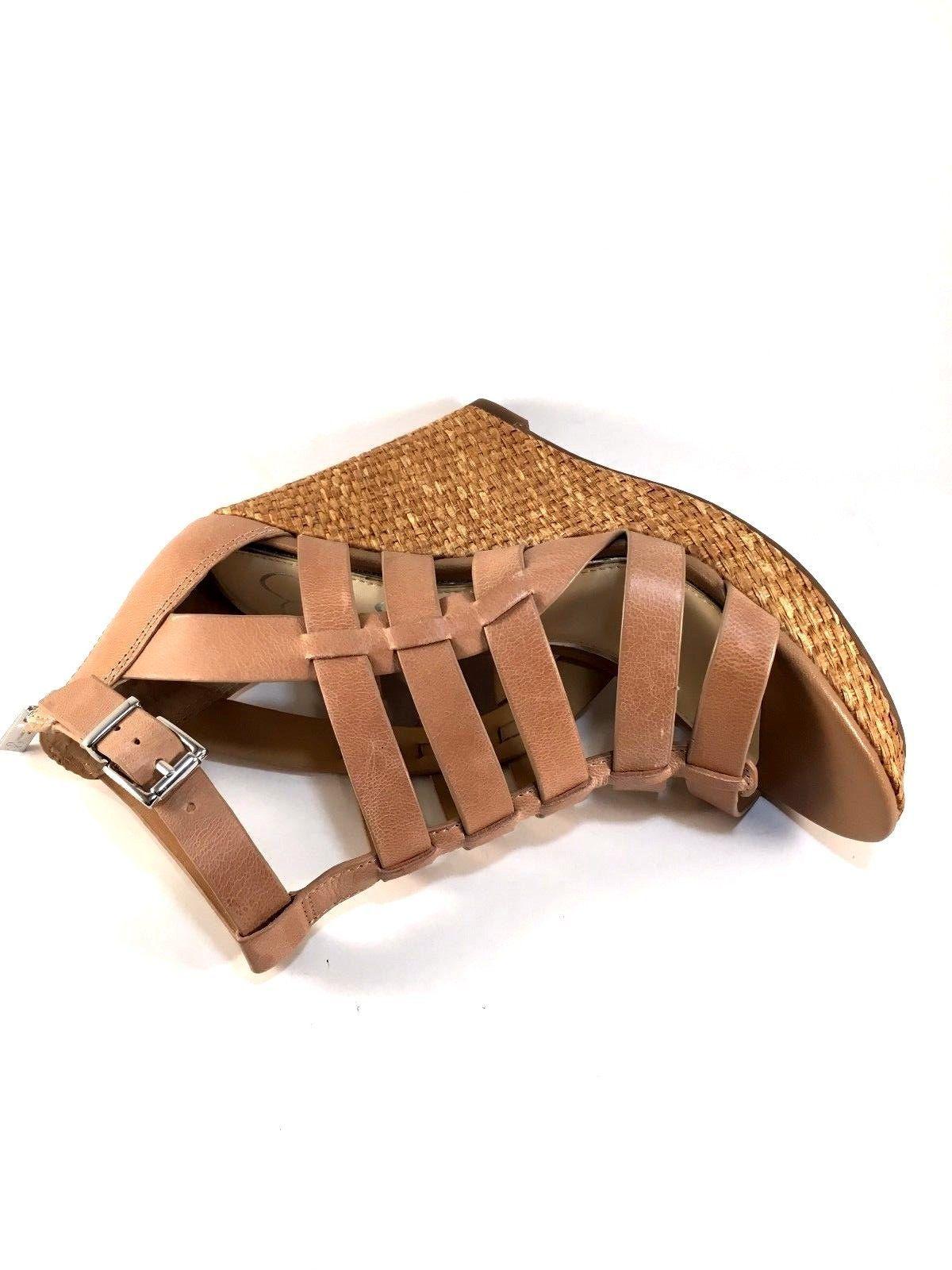 Jessica Simpson Jeyne Leather Platform Wedge Closed Back Sandals Choose Sz/Color